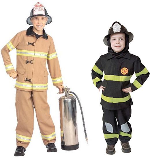 Kid fireman costume - b