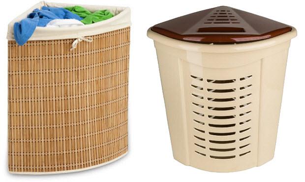 Corner laundry hamper - 2