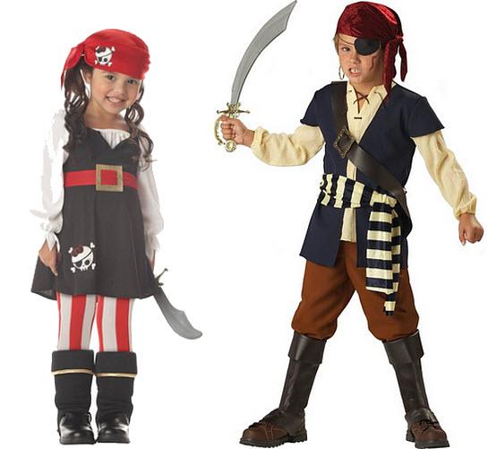 Kids pirate Halloween costume - b