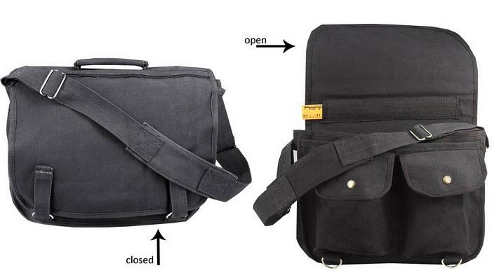Over-the-shoulder messenger bag - unisex - b
