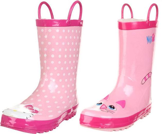 Girls pink rain boots - 2