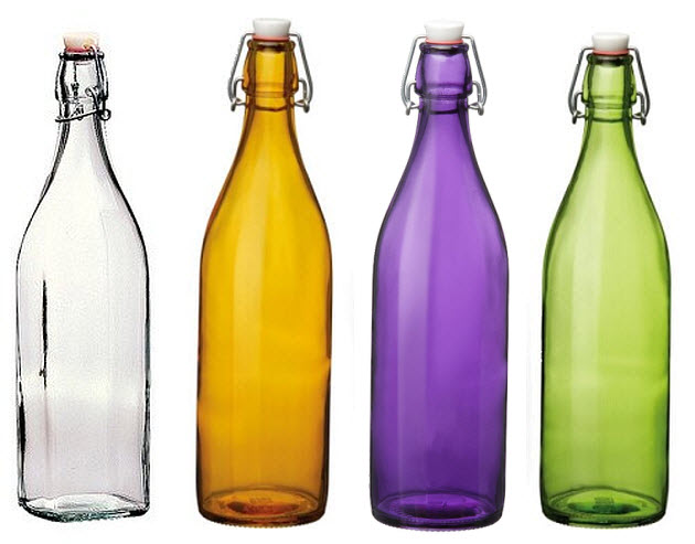Glass bottles with clamp stoppers - 3