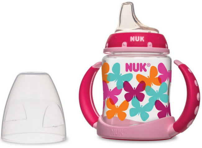 Pink sippy cup - b