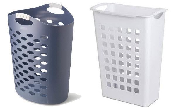Plastic laundry hamper basket - 2