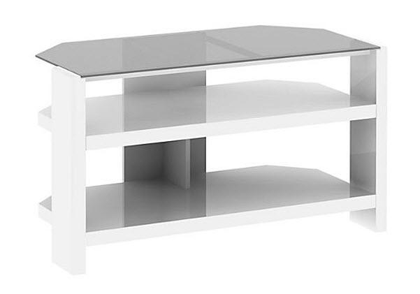 White corner TV stand - 3