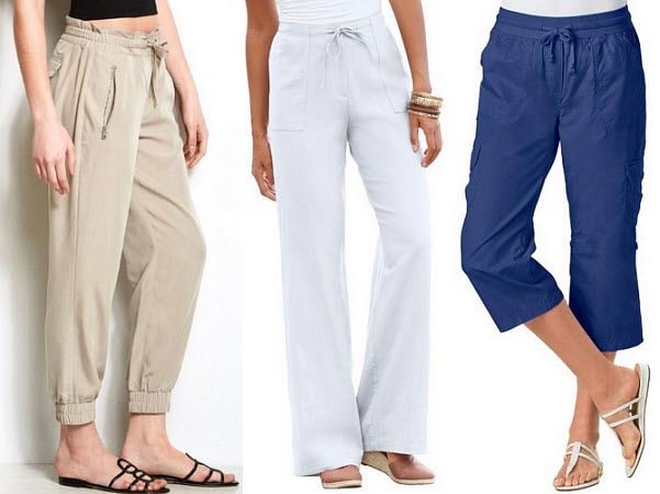Womens drawstring pants