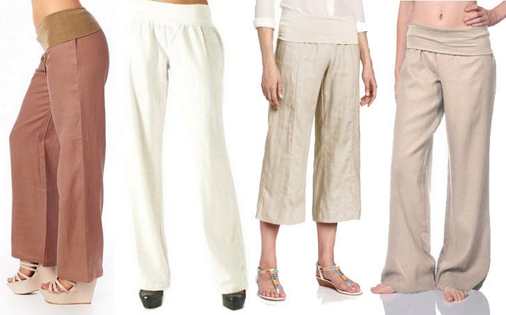 Womens linen pants - 2