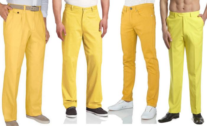 Yellow pants for men - 3