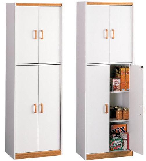 white storage cabinet -with doors - b