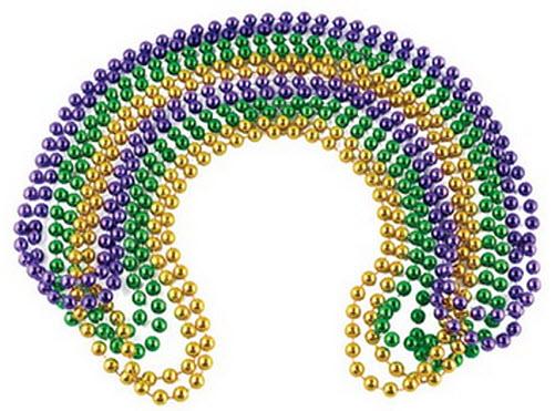 mardis gras beads - b