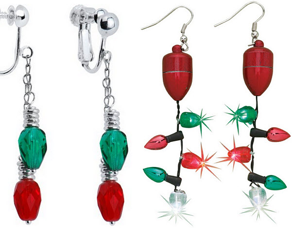 Christmas Lights Earrings - 2