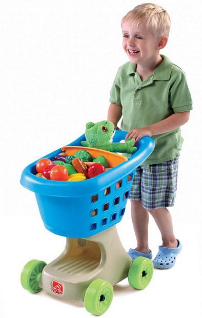 Kids toy shopping cart - b