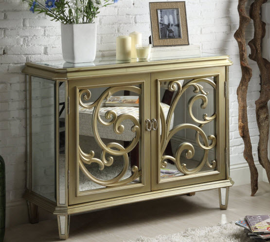 Mirrored accent chest - 2