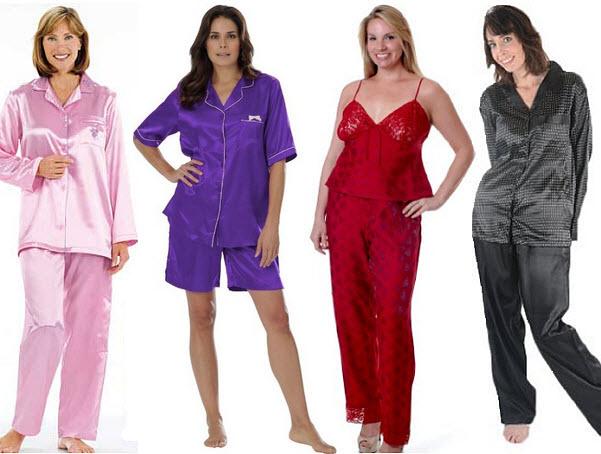 Plus size satin pajamas - 4