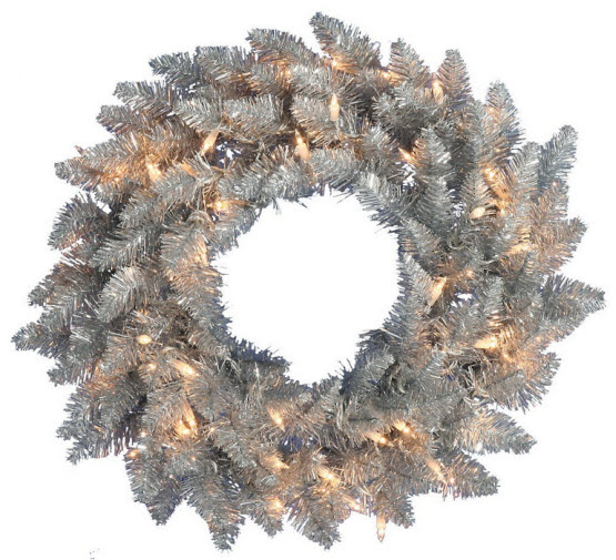 Silver Christmas wreath - 2