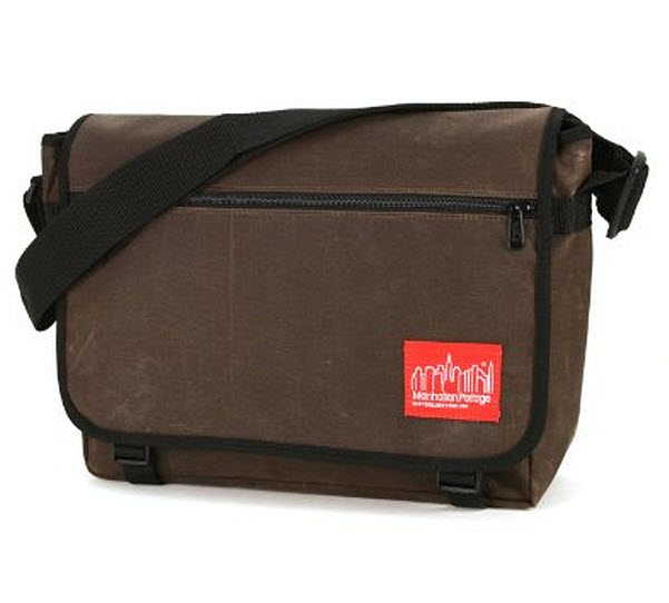 Waxed canvas messenger bag - 2