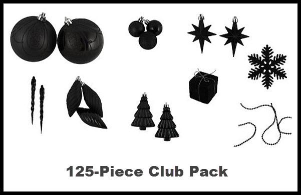 Black christmas tree ornaments - 2