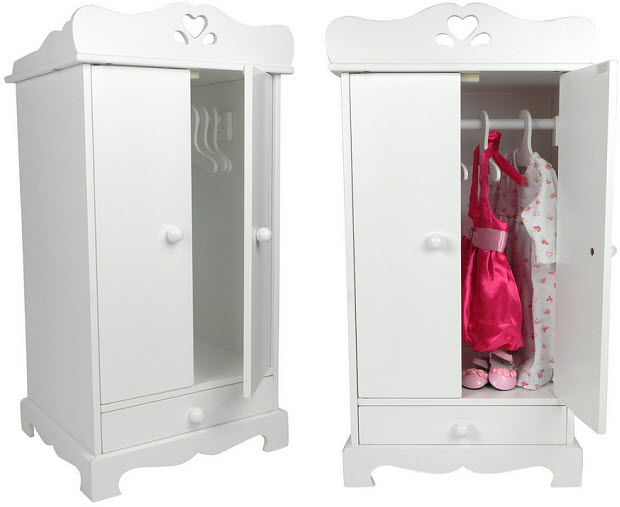 Doll clothes armoire - b