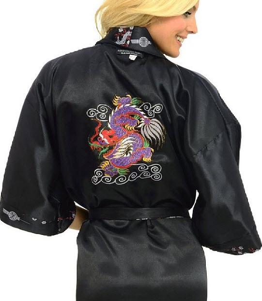 Dragon kimono robe - b