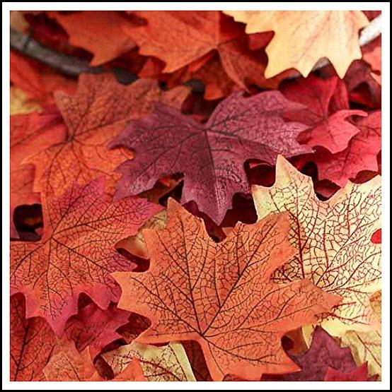 Silk fall leaves - Autumn leaves in bulk - 2b
