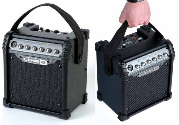 Battery powered guitar amp