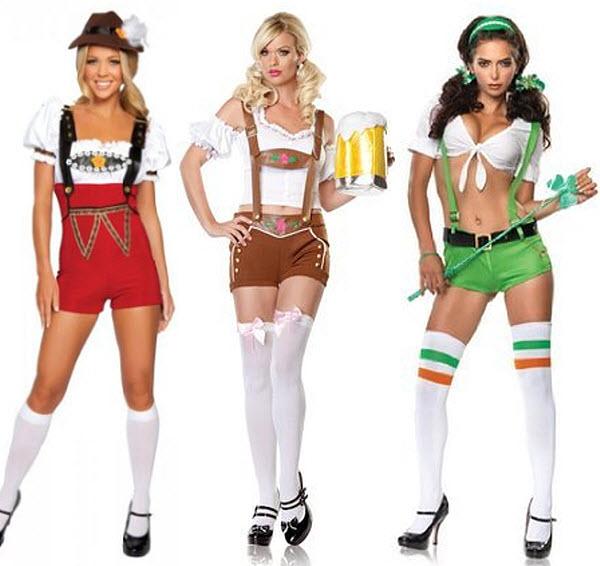 Lederhosen costumes for women