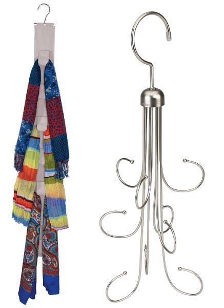 Scarf hanger organizer