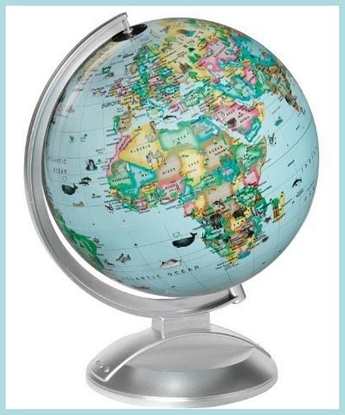 globe of the worlD for kids - B