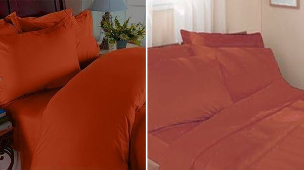 Burnt orange sheets