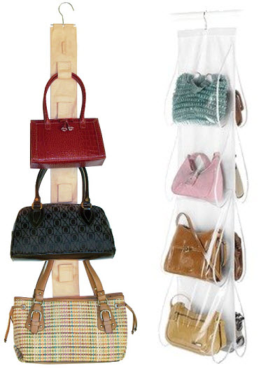 Hanging purse rack