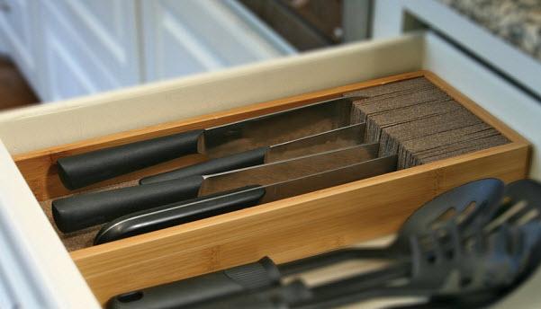 Drawer knife block