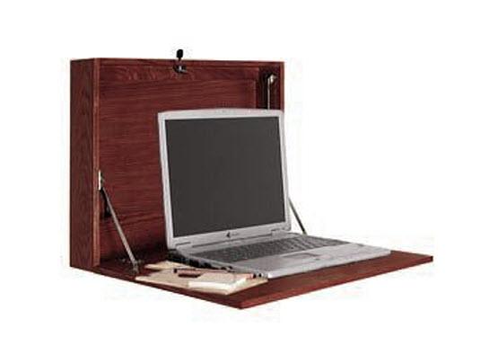 Laptop wall shelf