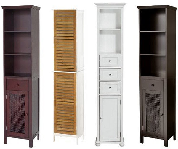Narrow linen cabinet