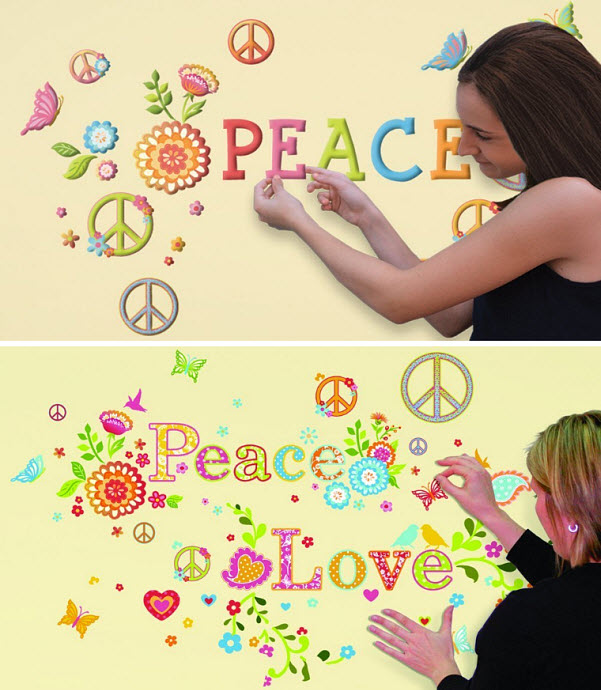 Peace sign wall decals