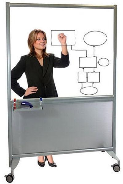 Transparent dry erase board