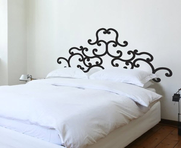 Vinyl headboard decal