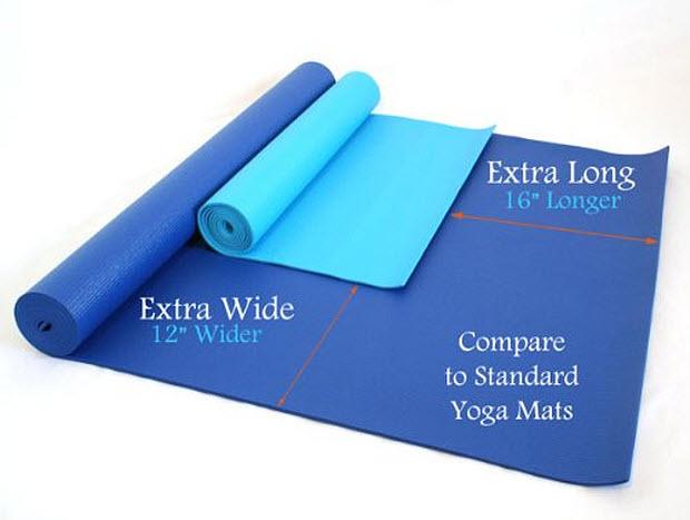 Wide yoga mats