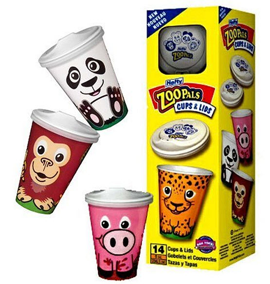 Disposable sippy cups