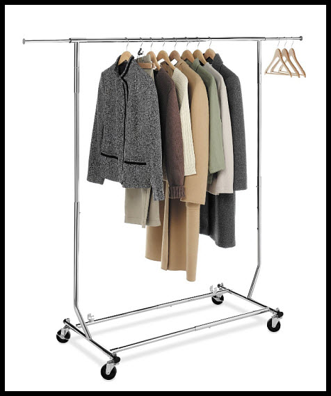 Garment rack on wheels