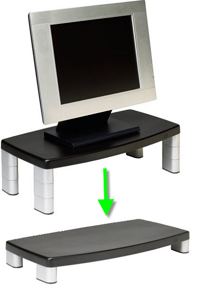 Height adjustable monitor stand