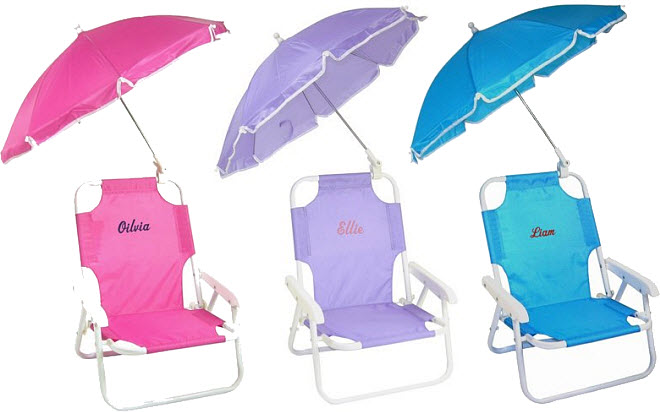 Kids beach chairs with umbrella - b
