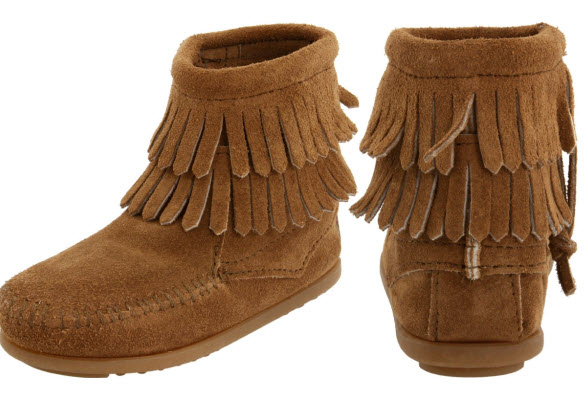 Kids leather moccasins