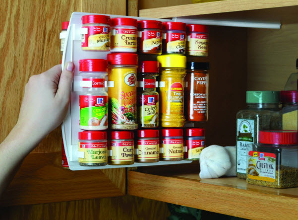 Pull out sliding spice racks for cabinets