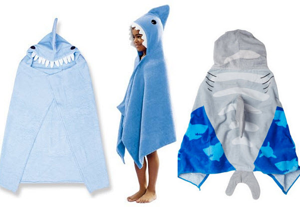 Shark Hooded Beach Towel Findabuy
