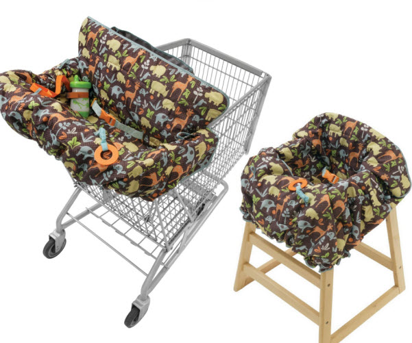Shopping cart and high chair cover