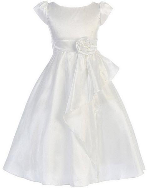 Taffeta flower girl dress