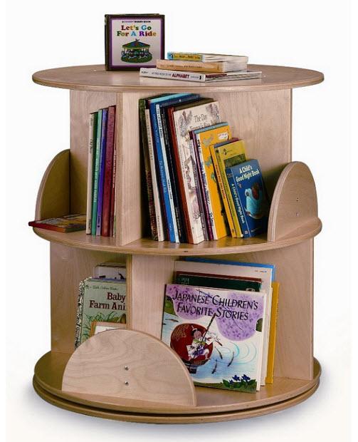 kids revolving bookcase - b