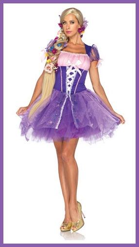 Adult Tangled Rapunzel costume - b