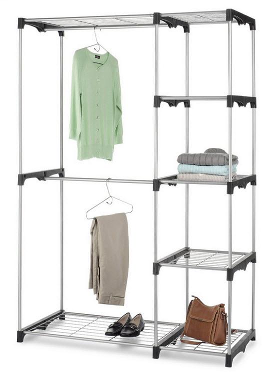 Closet shelving unit