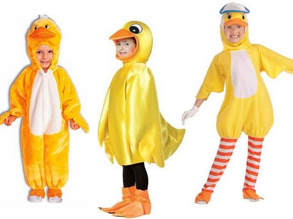 Kids duck costumes